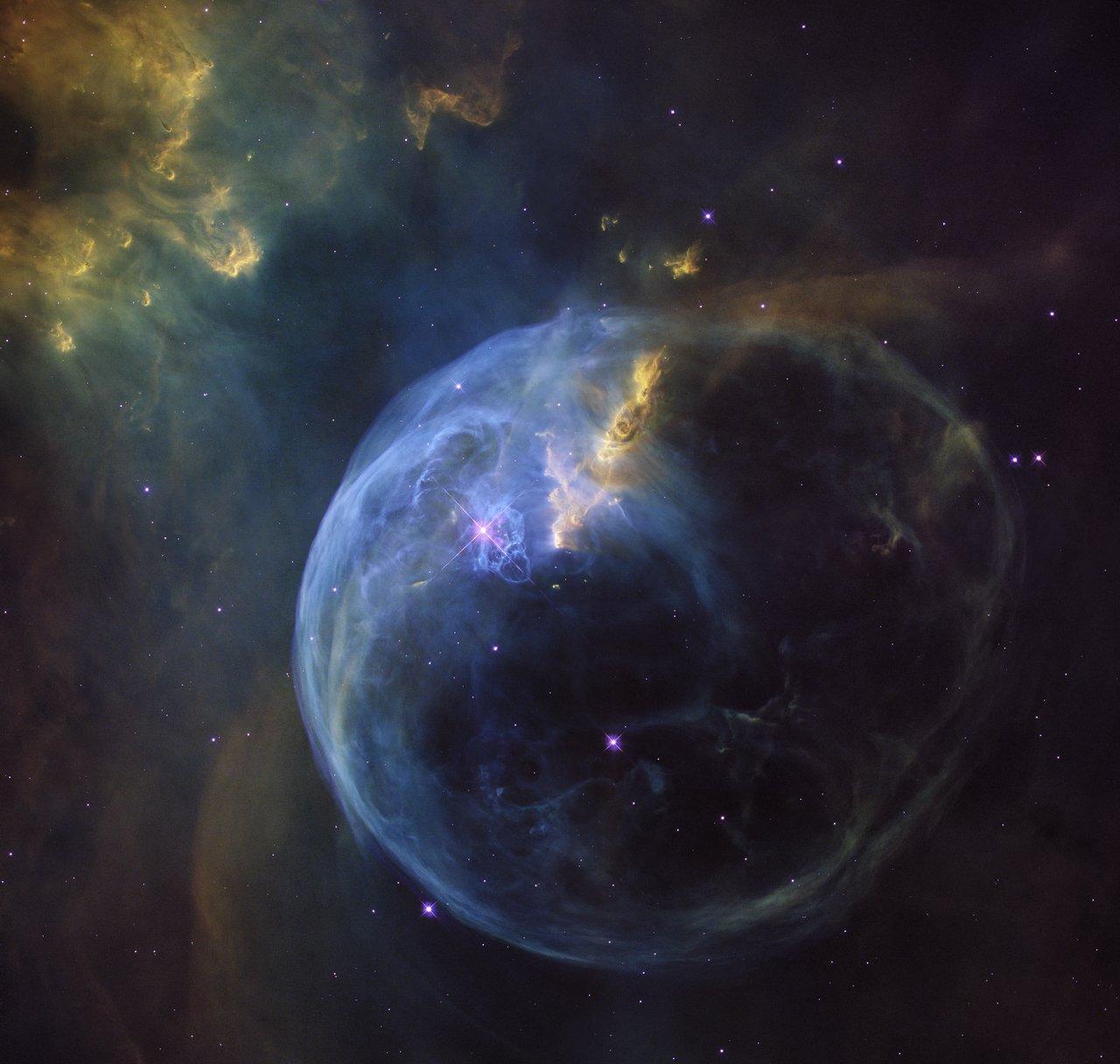 Bubble Nebula looks like giant cosmic soap bubble ...