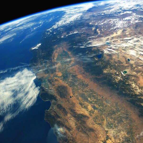 Image from the International Space Station (ISS) as it flew over California.  Image credit: Stuart Rankin/Flickr