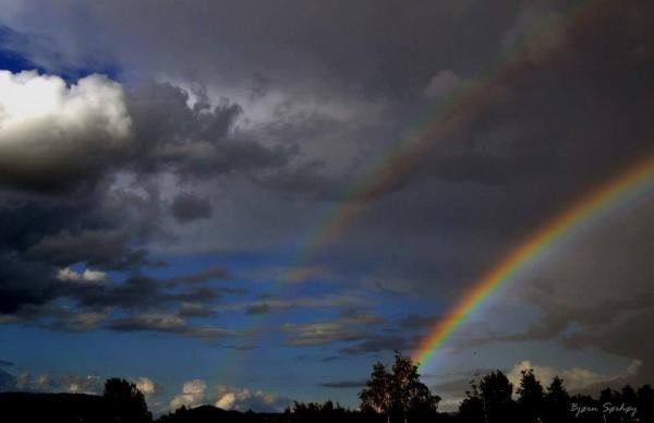 Double rainbow. Steinkjer, Norway. Photo: Bjørn Sørhøy?