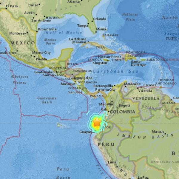 7.8 earthquake in Ecuador on April 16, 2016.