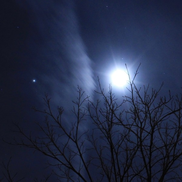 Sigrid L Werner in Washington, New Jersey, caught this shot of the moon and Jupiter on April 16.