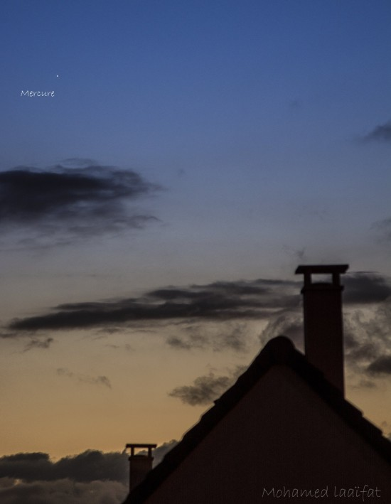Mohamed Laaifat caught Mercury from Normandy, France on April 16, 2016. Thank you, Mohamed!