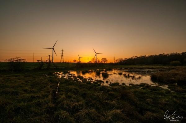 Sunset on April 19, 2016 at High Sharply, Sunderland, UK. Photo: Lewis Brown?