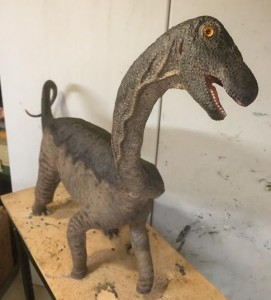 An artist's depiction, in a life-sized sculpture, of how the baby Rapetosaurus may have looked like in real life. Image Credit: Kristi Curry Rogers