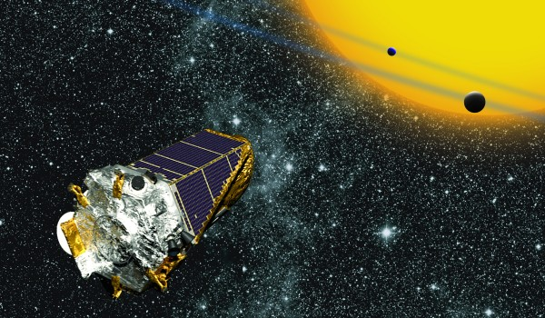 Launched in March 2009, Kepler is the first NASA mission to find potentially habitable Earth-size planets. For four years, Kepler monitored 150,000 stars in a single patch of sky, measuring the tiny, telltale dip in the brightness of a star that can be produced by a transiting planet.  Image via Kepler mission.