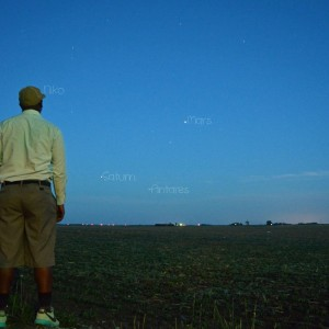 Niko Powe in Illinois called this image S.A.M.N. for Saturn, Antares, Mars, and Niko! :-)