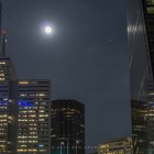 Full moon over Dallas via Ben Zavala.