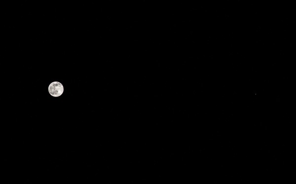 Notice the features on the moon in this photo by our friend Eliot Herman in Tucson.  He wrote: