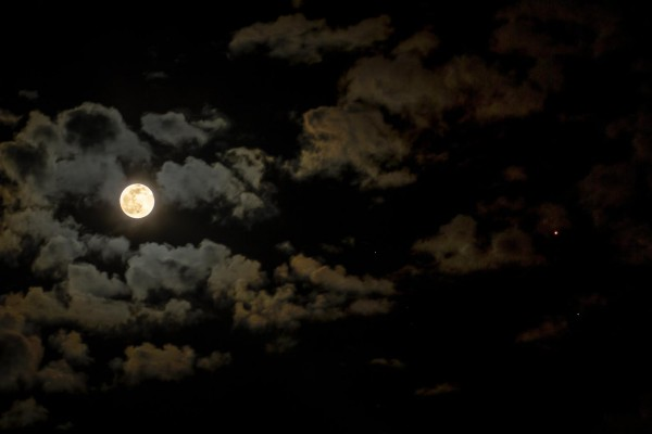 Greg Hogan caught this shot of the full moon and Mars on the night before Mars opposition, May 21, 2016. Thanks, Greg!