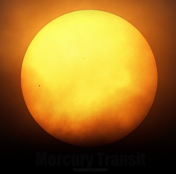 May 9, 2016, transit of Mercury from Vegastar Carpentier Photography in France.