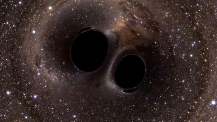 Artist's concept of primordial black holes, via NASA.