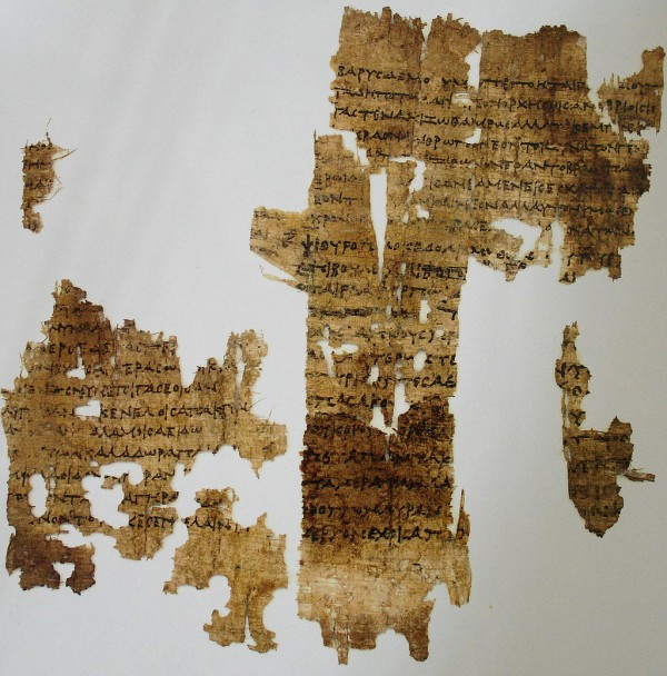 Sappho's poems have been pieced together from ancient fragments. This piece holds a poem about old age, copied to papyrus from 3 centuries B.C. Image credit: Masur via Wikimedia Commons.