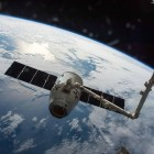 The SpaceX Dragon cargo spaceship is grappled by the International Space Station's Canadarm2. The spacecraft delivered about 7,000 pounds of science and research investigations on April 10, including the Bigelow Expandable Activity Module (BEAM). Image credit: NASA