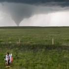 Don't try this at home: Researchers study tornadoes from a safe distance.  Image via Josh Wurman, CSWR