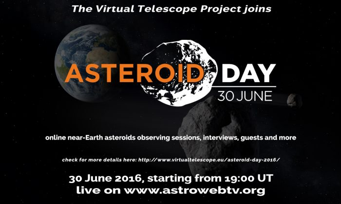 Asteroid Day 2016 at the Virtual Telescope Project