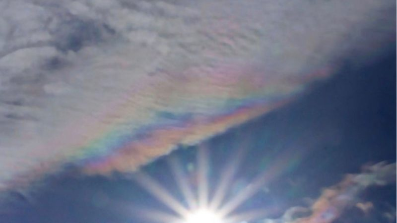 Our friend Dave Walker in the UK caught another iridescent cloud in 2013. He wrote,