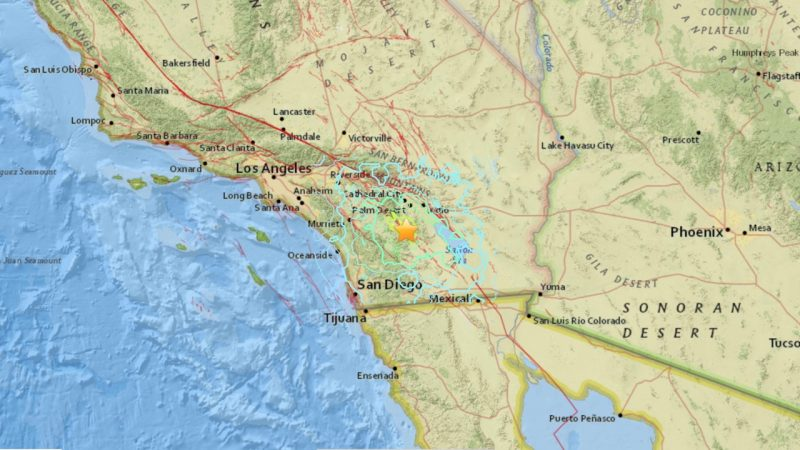 June 10, 2016 earthquake in California via USGS.