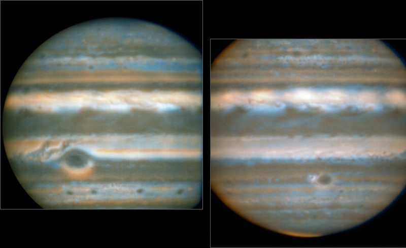 False colour images generated from VLT observations in February andMarch 2016