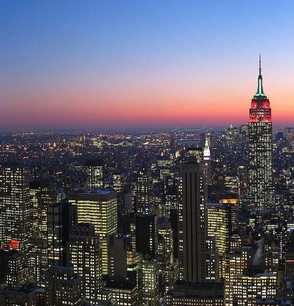 Twilight over Manhattan, New York City