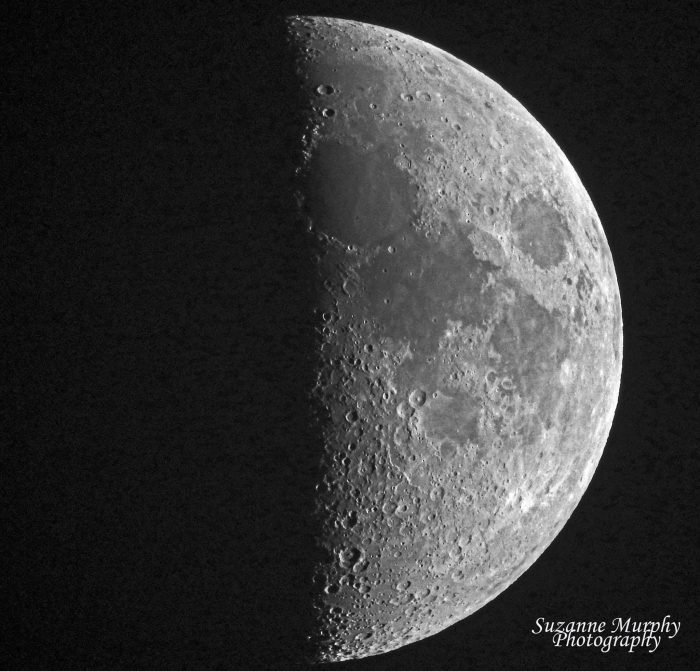 Nearly first quarter moon on the evening of June 11, 2016. The moon reached the first quarter phase on June 12, 2016 at 0810 UTC, or 3:10 a.m. CDT.  Translate to your timezone.