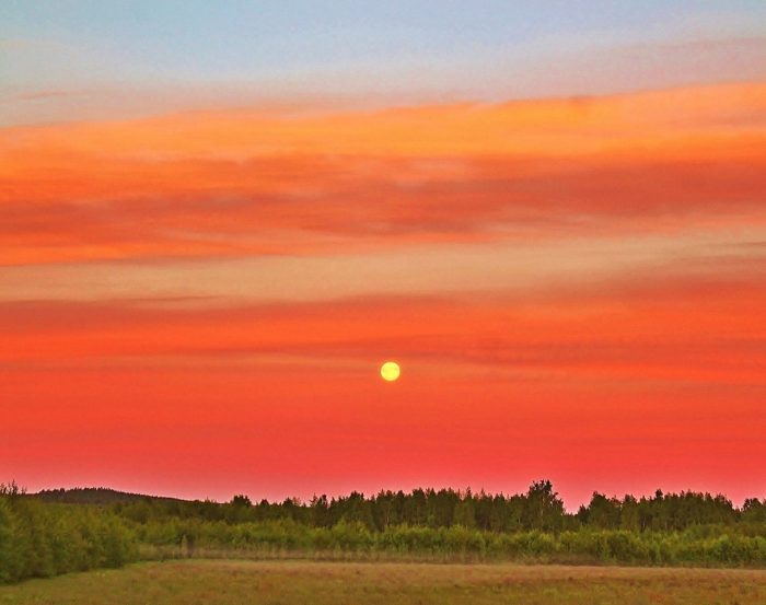 The solstice midnight full moon of northern Sweden - June, 2016 by our friend Birgit Bodén?.