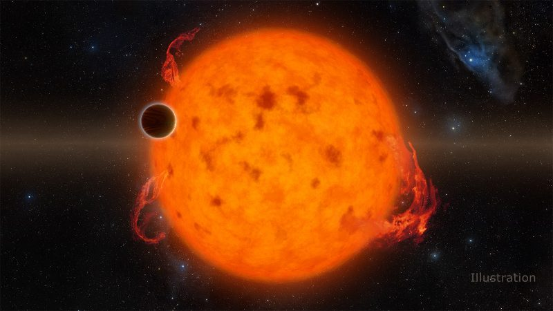 Artist's concept of young planet K2-33b, via NASA/JPL-Caltech.