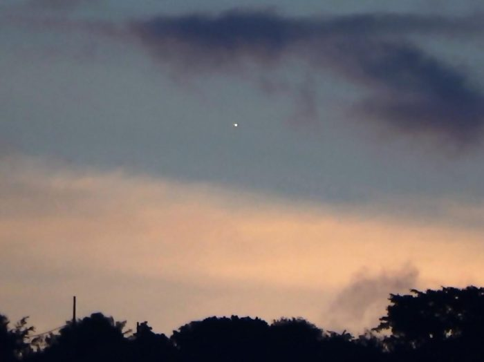 Venus setting behind the sun on June 28, 2016, by Helio C. Vital.  Going ...