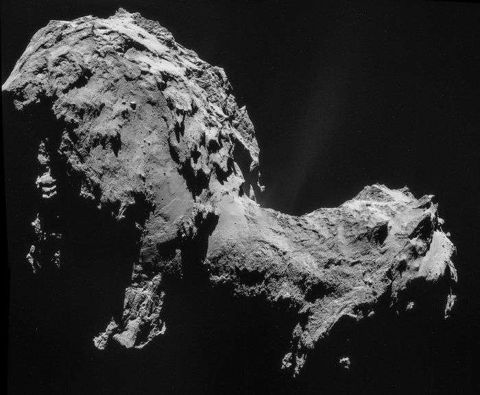 Before the Rosetta spacecraft mission, who knew comets looked like this? Four-image Rosetta NAVCAM mosaic, using images taken on September 19, 2014 when the spacecraft was 17.8 miles (28.6 km) from Comet 67P/Churyumov-Gerasimenko.