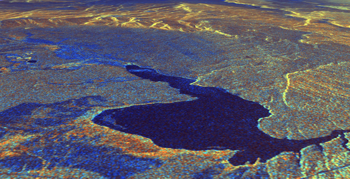 The Long Valley Caldera in eastern California was created by a super-eruption 760,000 years ago. (NASA/JPL)