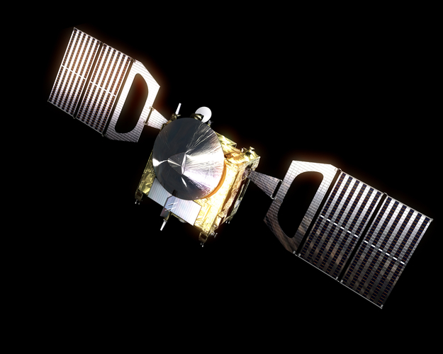 Artist's concept of Venus Express spacecraft, via ESA.