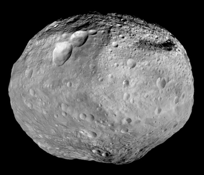 Astronomers point to the asteroid Vesta as an example of a surviving porto-planet. Read more. Image via Dawn spacecraft.