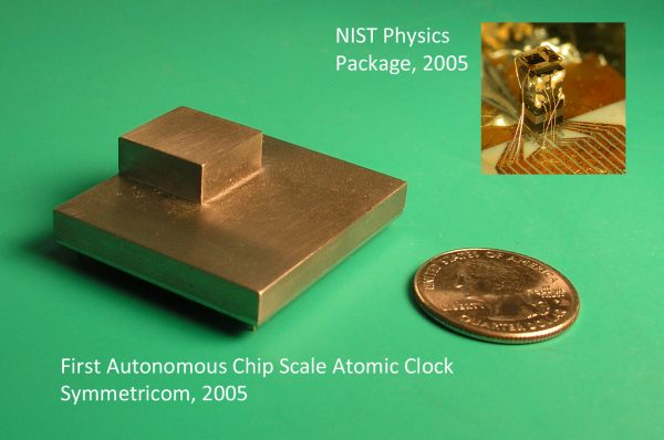 Early chip scale atomic clocks from NIST, via Wikimedia Commons.