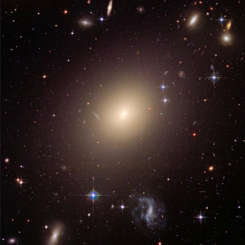This image from NASA's Hubble Space Telescope shows the diverse collection of galaxies in the cluster Abell S0740 that is over 450 million light-years away in the direction of the constellation Centaurus. Image via HubbleSite.
