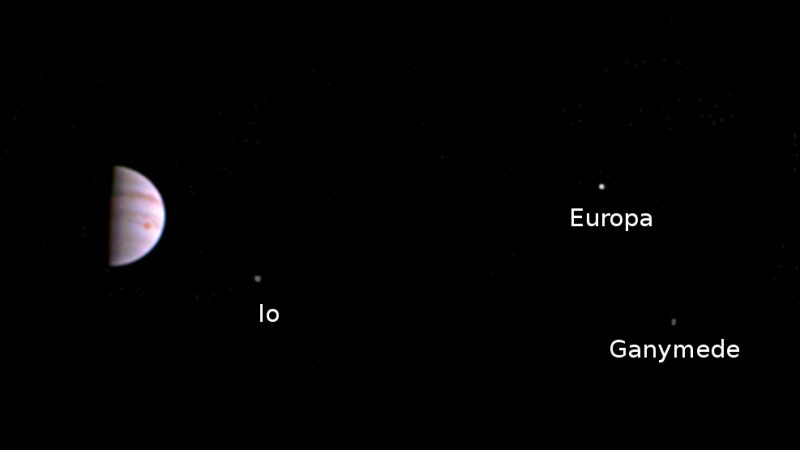 Juno acquired this image on July 5, 2016, the day after the craft entered orbit around Jupiter. Image via NASA/JPL.