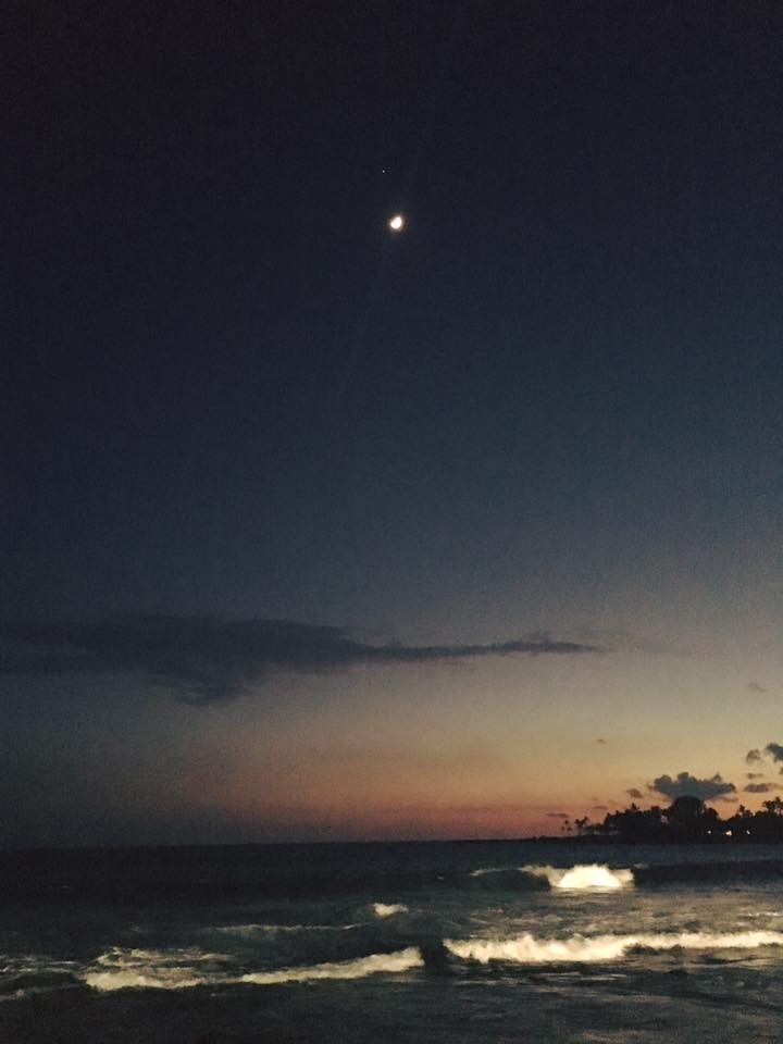 Anna Hartman caught the moon and Jupiter on July 9 from a beach in Kona, Hawaii. Beautiful, Anna ... thank you.