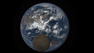 Moon photobombs Earth   Earth   EarthSky