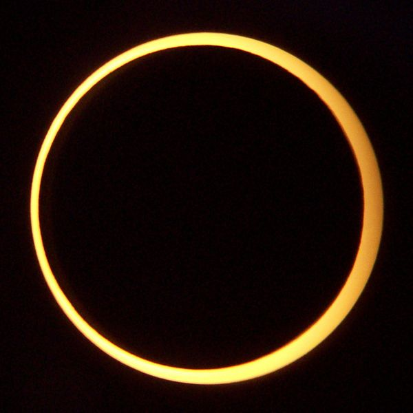 Photo Ring of Fire annular eclipse