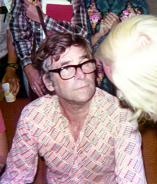Gene Roddenberry listening to fans after his lecture at the Student Union of the University of Texas at Austin. Image via Wikimedia Commons.