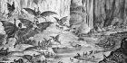 The inhabitants of the moon (Vespertilio homo or men-bat). Credit: Wikimedia Commons