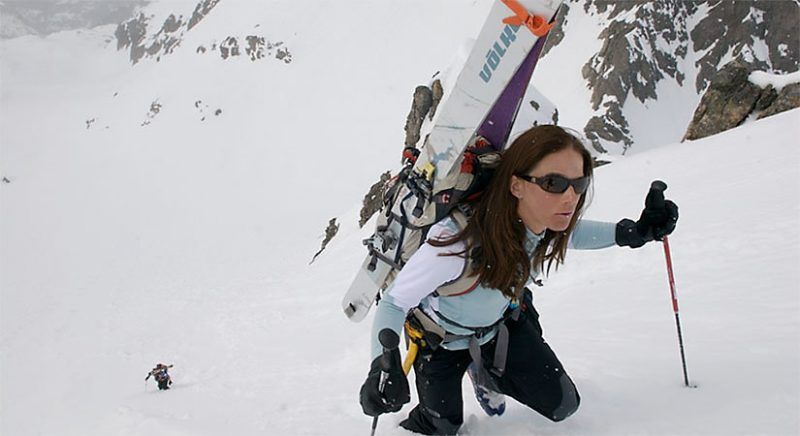 Kit Delauriers describes her self as a ski mountaineer. Image via The North Face.