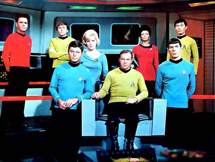 The original Star Trek cast. Credit: Wikimedia Commons, Desilu Productions, NBC.