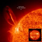 Solar eruption larger than Earth, released on August 1, 2016 by ESA.