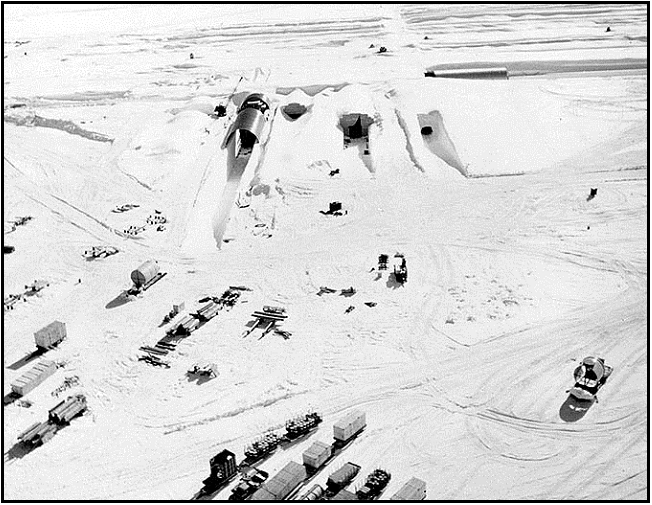 The northeast portal to Camp Century during construction in 1959. Credit: US Army.