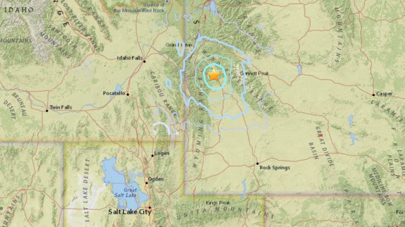 August 27, 2016 earthquake in western Wyoming.