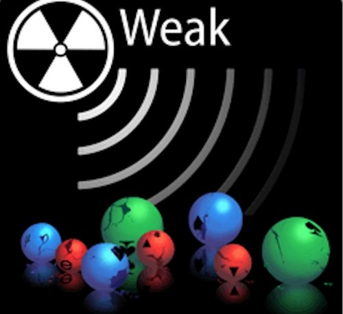 The 4th fundamental force, the weak force, is responsible for radioactive decays. It makes neutrons turn into protons, among other things, and every type of matter particle experiences it.