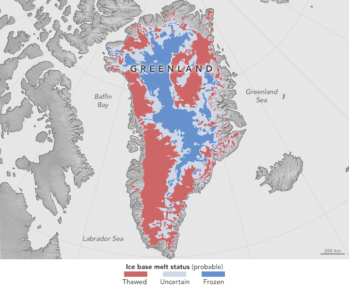 Map of thawing under Greenland ice | Earth | EarthSky