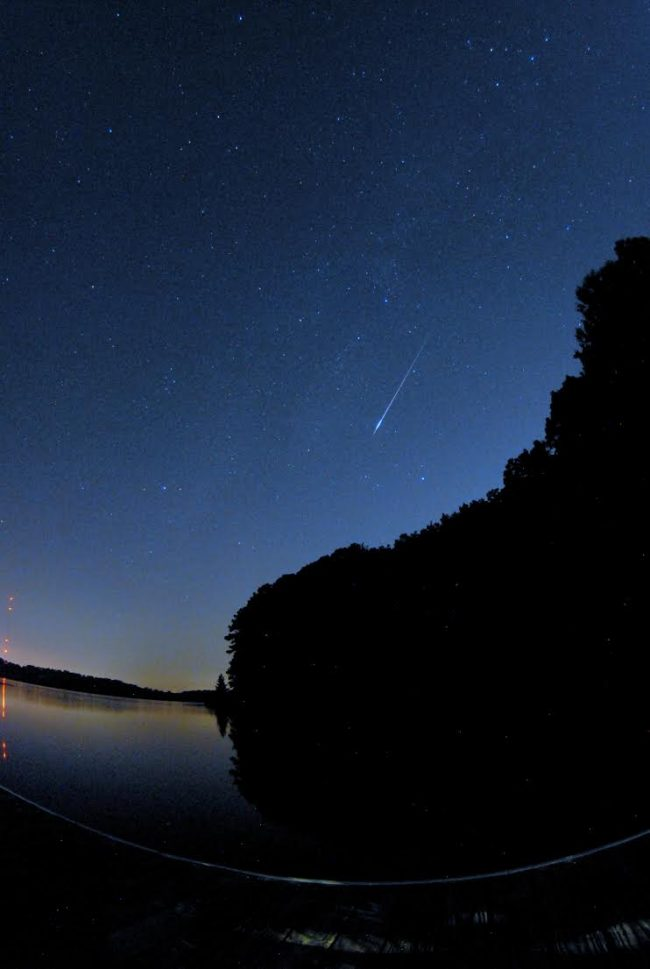 Michael Citrini caught this meteor on the morning of August 12. He wrote:
