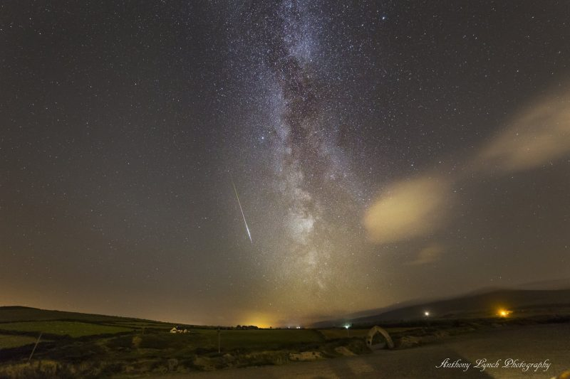 Anthony Lynch Photography caught this meteor on the morning of August 9 from Wicklow, Ireland. He wrote: