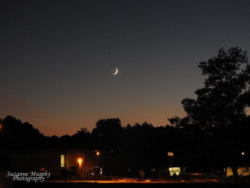 Suzanne Murphy got this shot of Jupiter and crescent moon from Wisconsin on August 5, 2016.