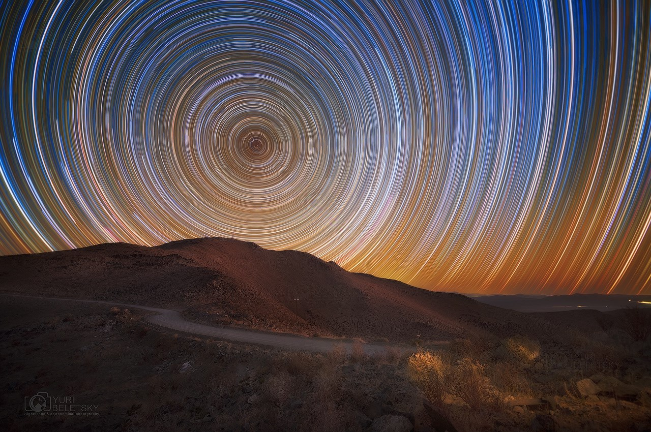 Star trails over GMT summit by Yuri Beletsky Nightscapes.